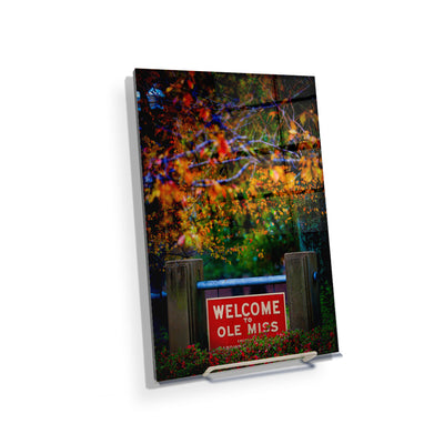 Ole Miss Rebels - Welcome to Ole Miss - College Wall Art #Acrylic Mini