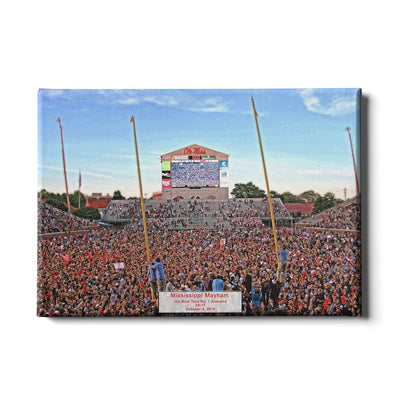 Ole Miss Rebels - Mississippi Mayhem - College Wall Art #Canvas