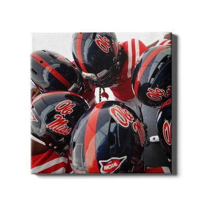 Ole Miss Rebels - Huddle - College Wall Art #Canvas