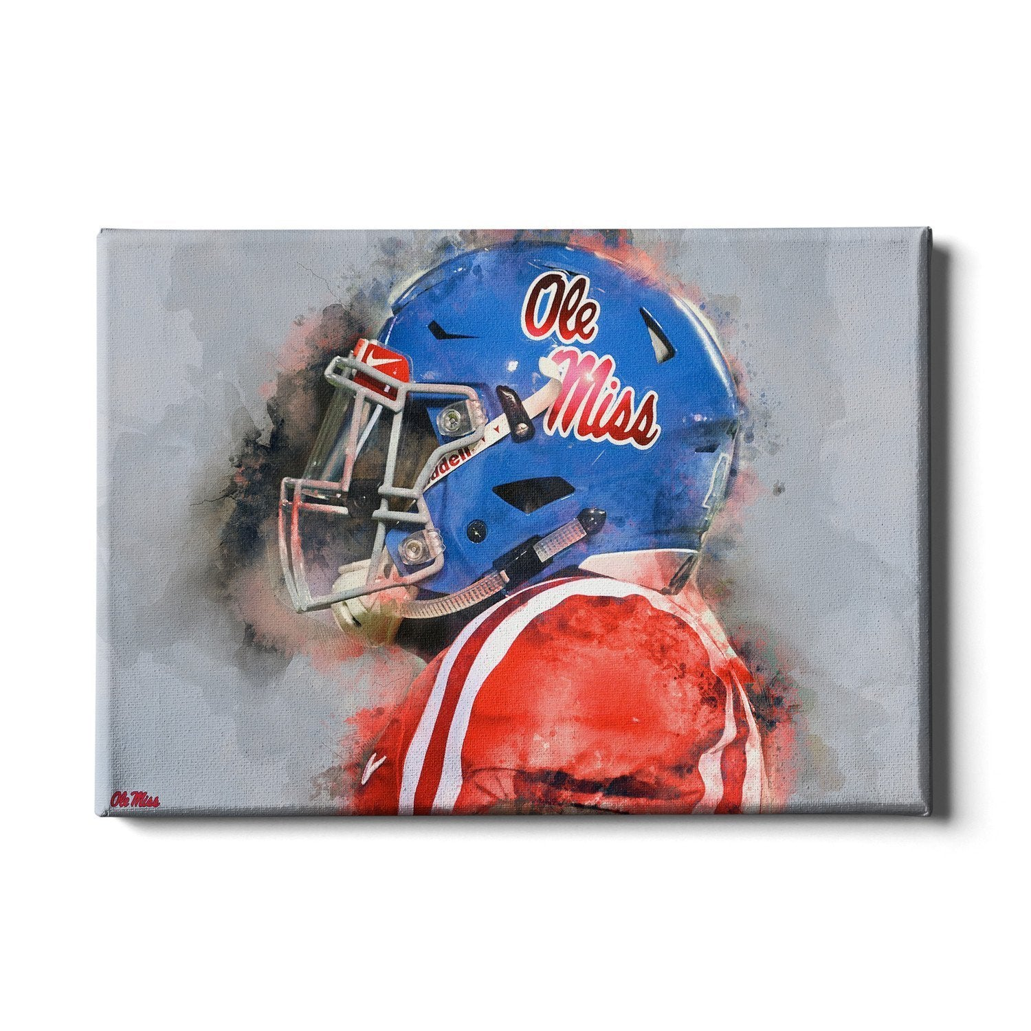 Ole Miss Rebels - Ole Miss Watercolor - College Wall Art #Canvas