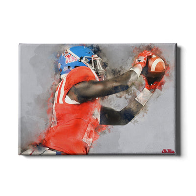 Ole Miss Rebels - Ole Miss Watercolor Catch - College Wall Art #Canvas
