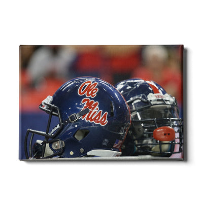 Ole Miss Rebels - Ole Miss Helmet - College Wall Art #Canvas