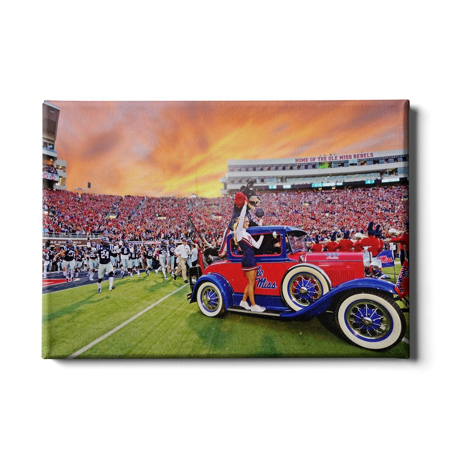Ole Miss Rebels - Home of the Ole Miss Rebels - College Wall Art #Canvas