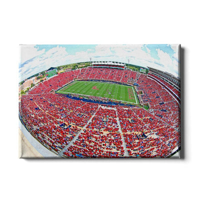 Ole Miss Rebels - Red Out - College Wall Art #Canvas