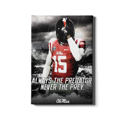 Ole Miss Rebels - The Predator - College Wall Art #Canvas