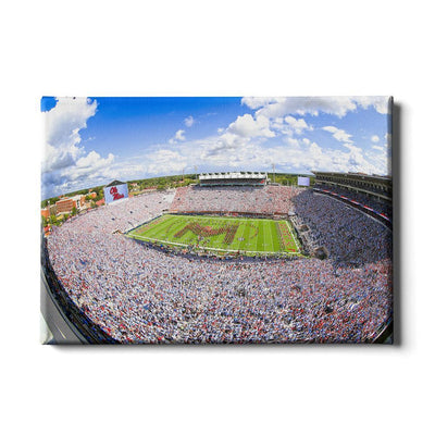 Ole Miss Rebels - Ole Miss White Out - College Wall Art #Canvas