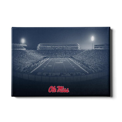 Ole Miss Rebels - Vaught Hemingway Night - College Wall Art #Canvas