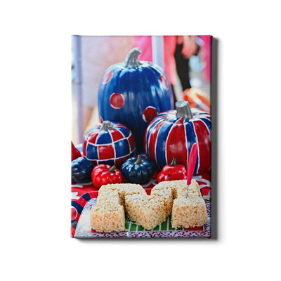 Ole Miss Rebels - Mississippi Pumpkin - College Wall Art #Canvas