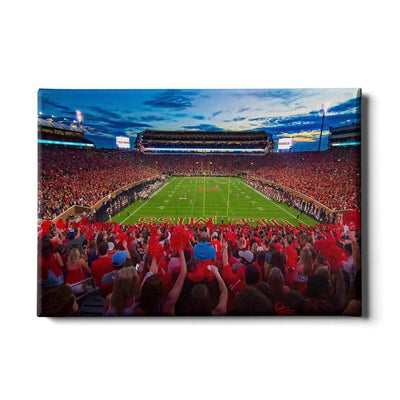 Ole Miss Rebels - Rebel Red Sunset - College Wall Art #Canvas