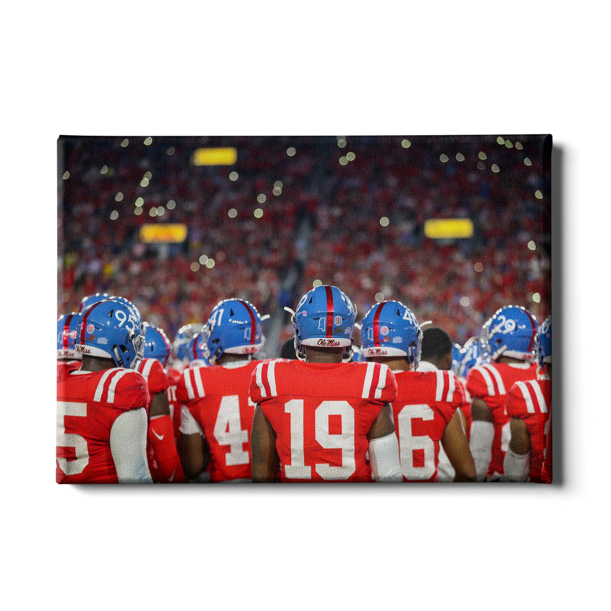 Ole Miss Rebels - Retro Team - College Wall Art #Canvas