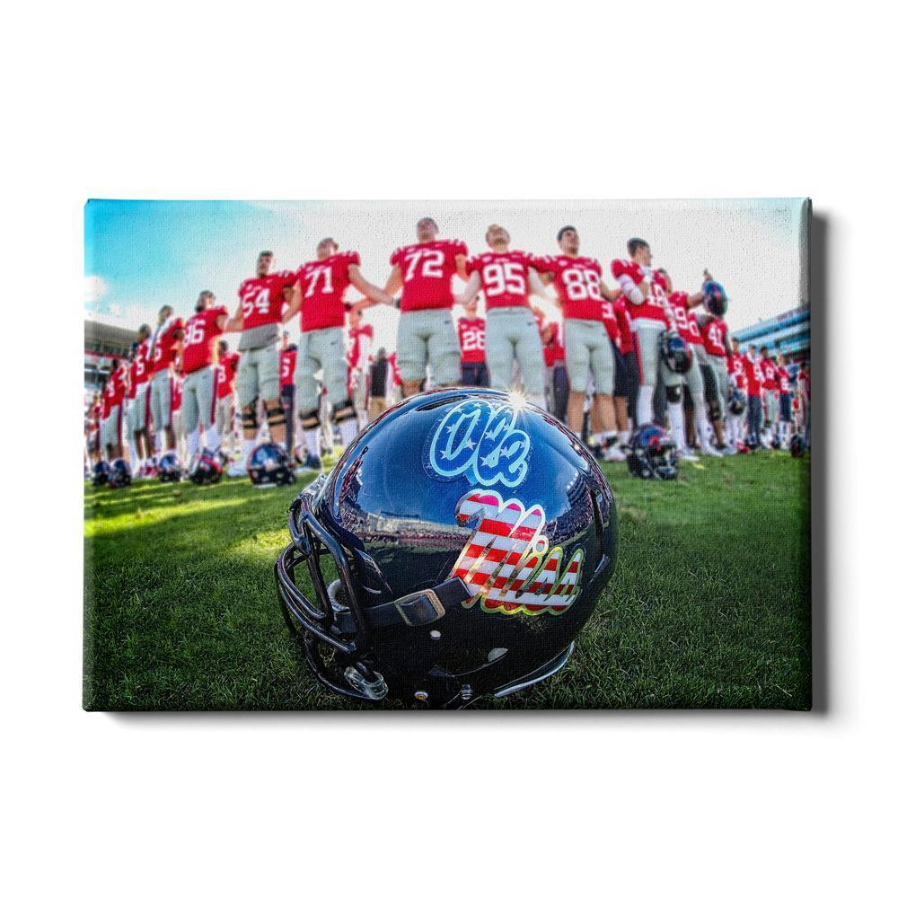 Ole Miss Rebels - Salute to our Military - College Wall Art #Canvas
