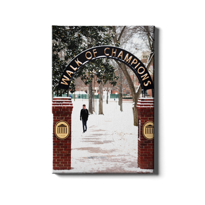 Ole Miss Rebels - Snowy Walk of Champions - College Wall Art #Canvas