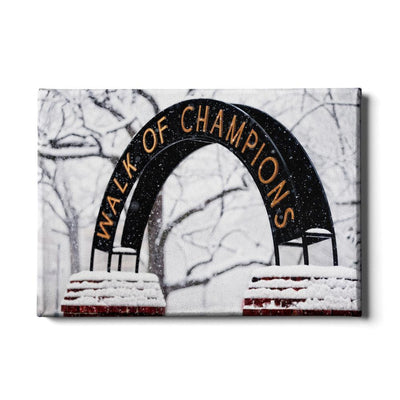 Ole Miss Rebels - Snowy Day Walk of Champions - College Wall Art #Canvas