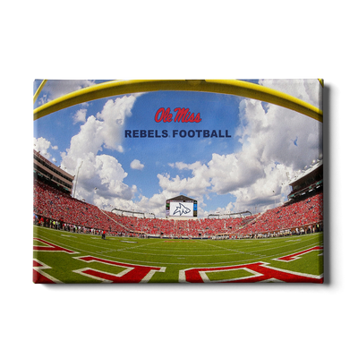 Ole Miss Rebels - End Zone Rebel Football - College Wall Art #Canvas