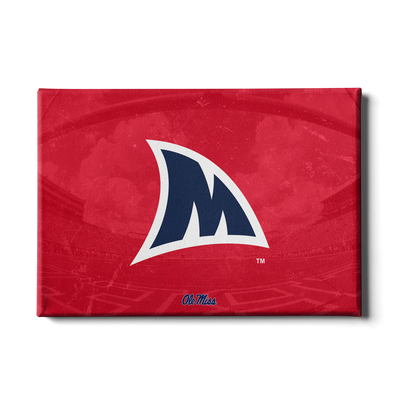 Ole Miss Rebels - Fins Up M - College Wall Art #Canvas