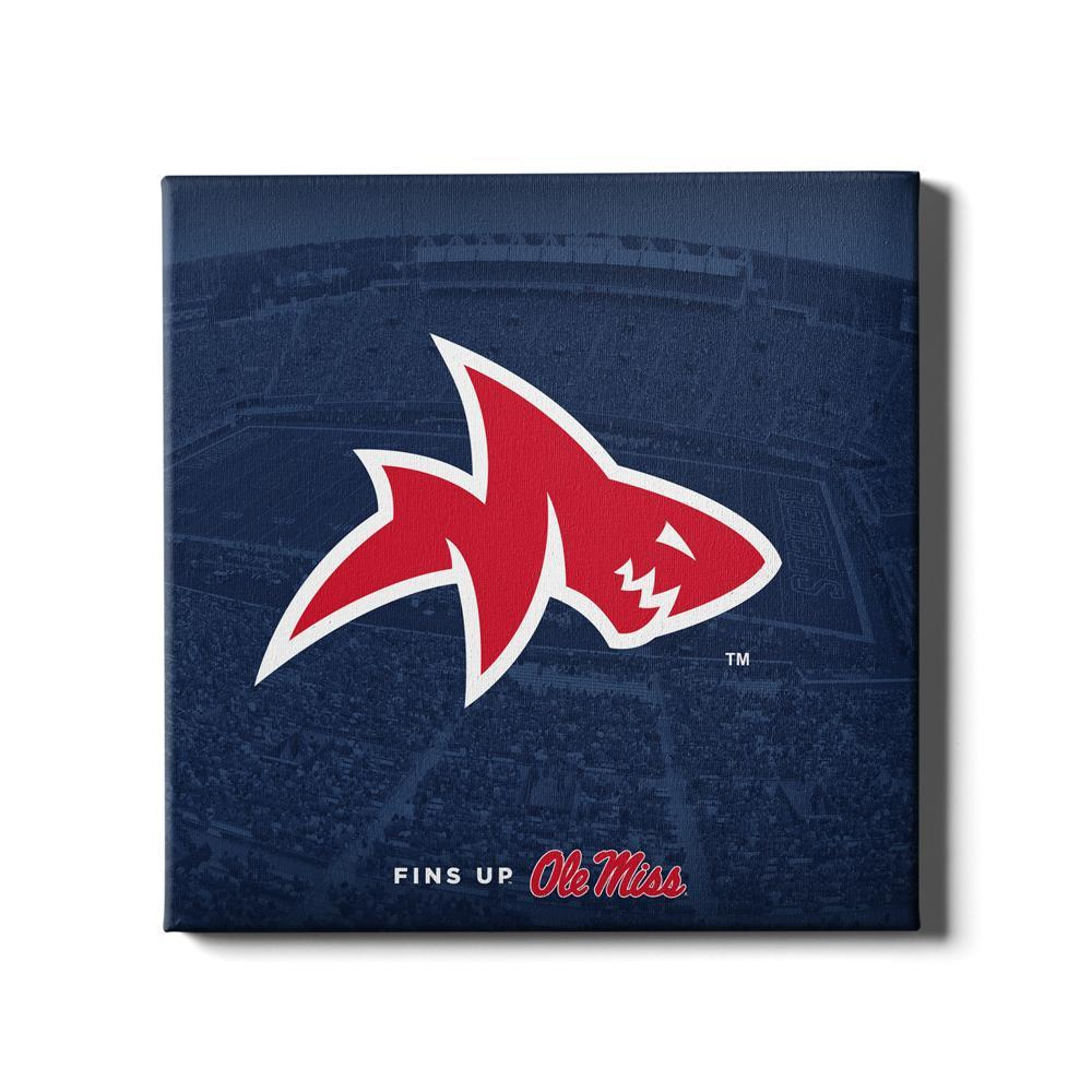 Ole Miss Rebels - Fins Up Ole Miss - College Wall Art #Canvas