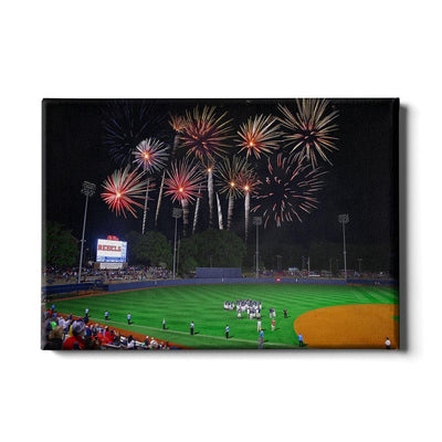Ole Miss Rebels - More Fireworks Over Swayze - College Wall Art #Canvas