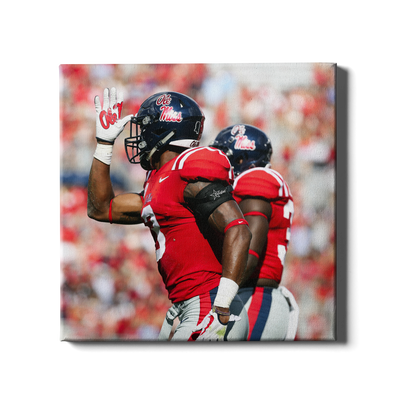 Ole Miss Rebels - Fins Up - College Wall Art #Canvas