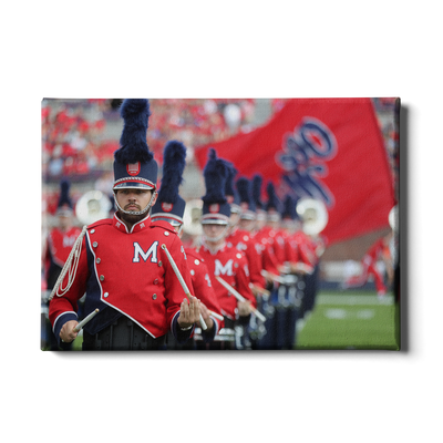 Ole Miss Rebels - Marching In - College Wall Art #Canvas
