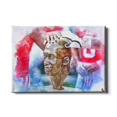 Ole Miss Rebels - Never Quit Watercolor - College Wall Art #Canvas