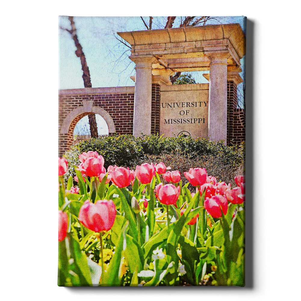Ole Miss Rebels - University of Mississippi Spring Entrance - College Wall Art #Canvas