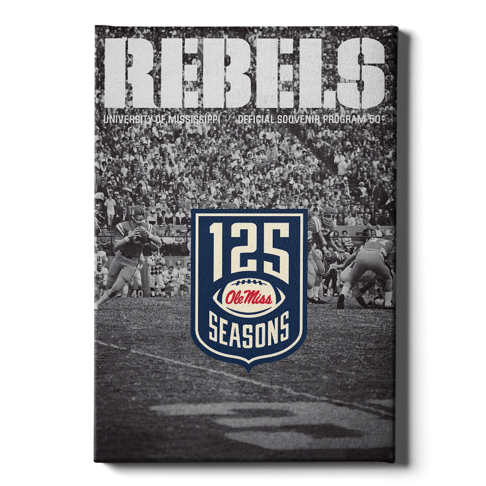 Ole Miss Rebels - REBELS 125 Years - College Wall Art #Canvas