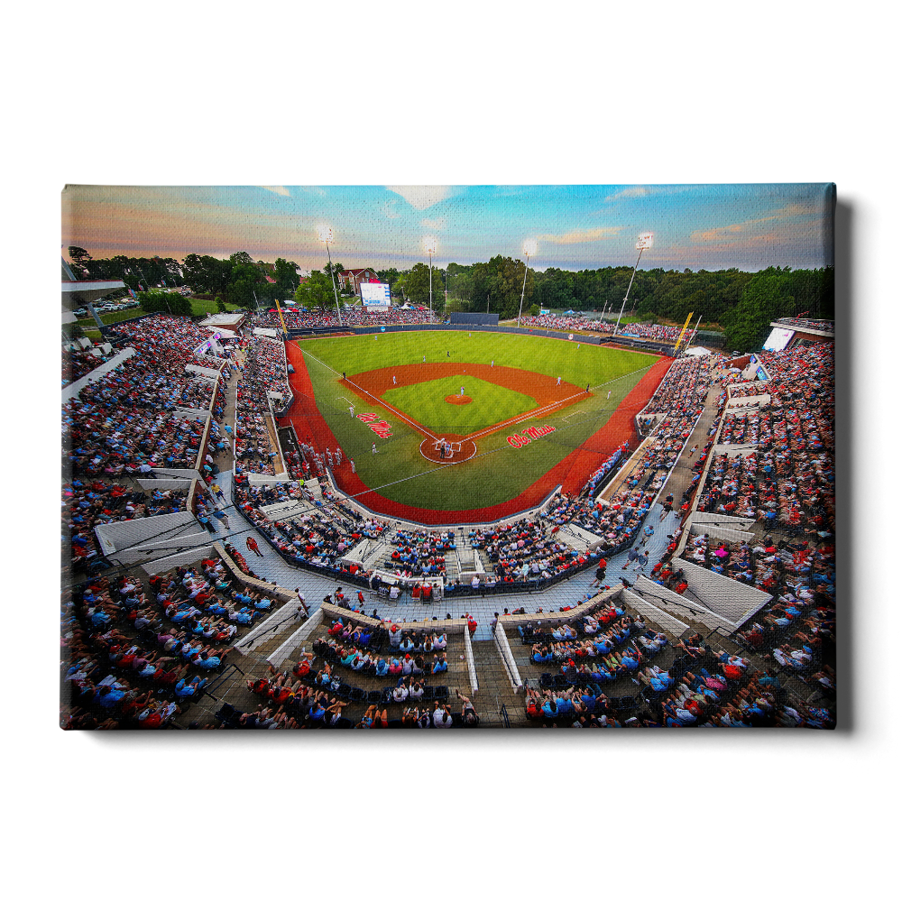 Ole Miss Rebels - Swayze Sunset - College Wall Art #Canvas