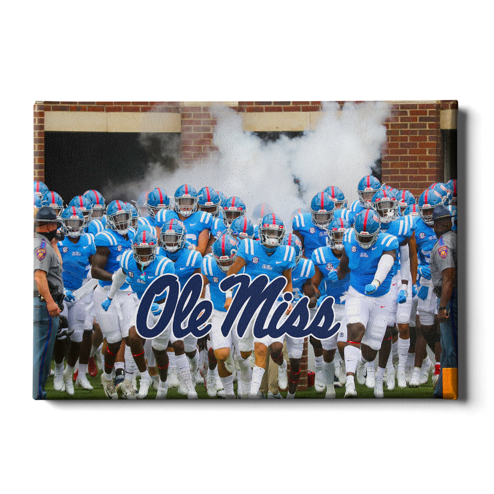 Ole Miss Rebels - Powder Blue 1 - College Wall Art #Canvas