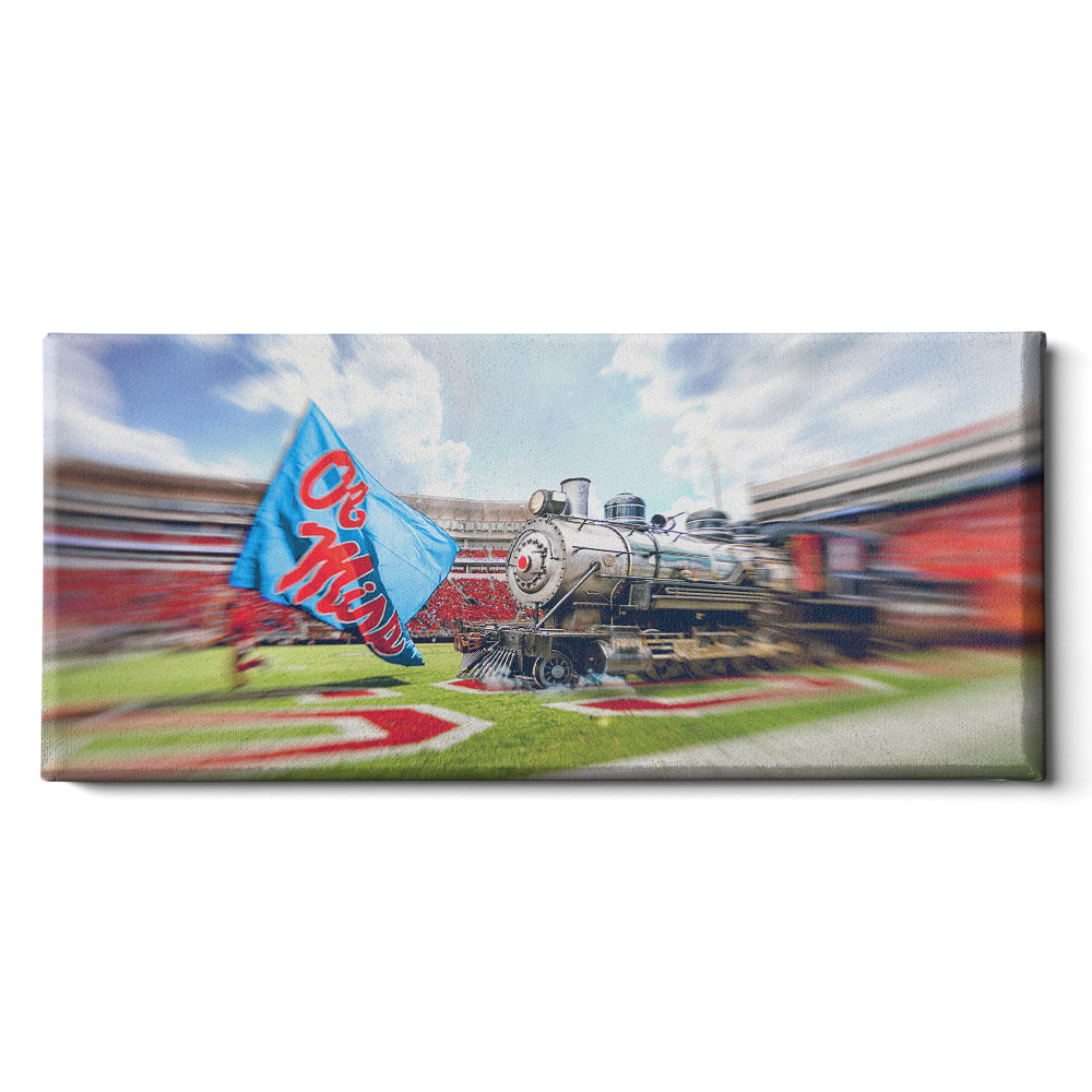 Ole Miss Rebel - Stadium Train Panoramic#Canvas