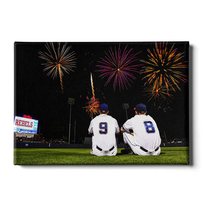 Ole Miss Rebels - Ole Miss Baseball Fireworks -College Wall Art #Canvas