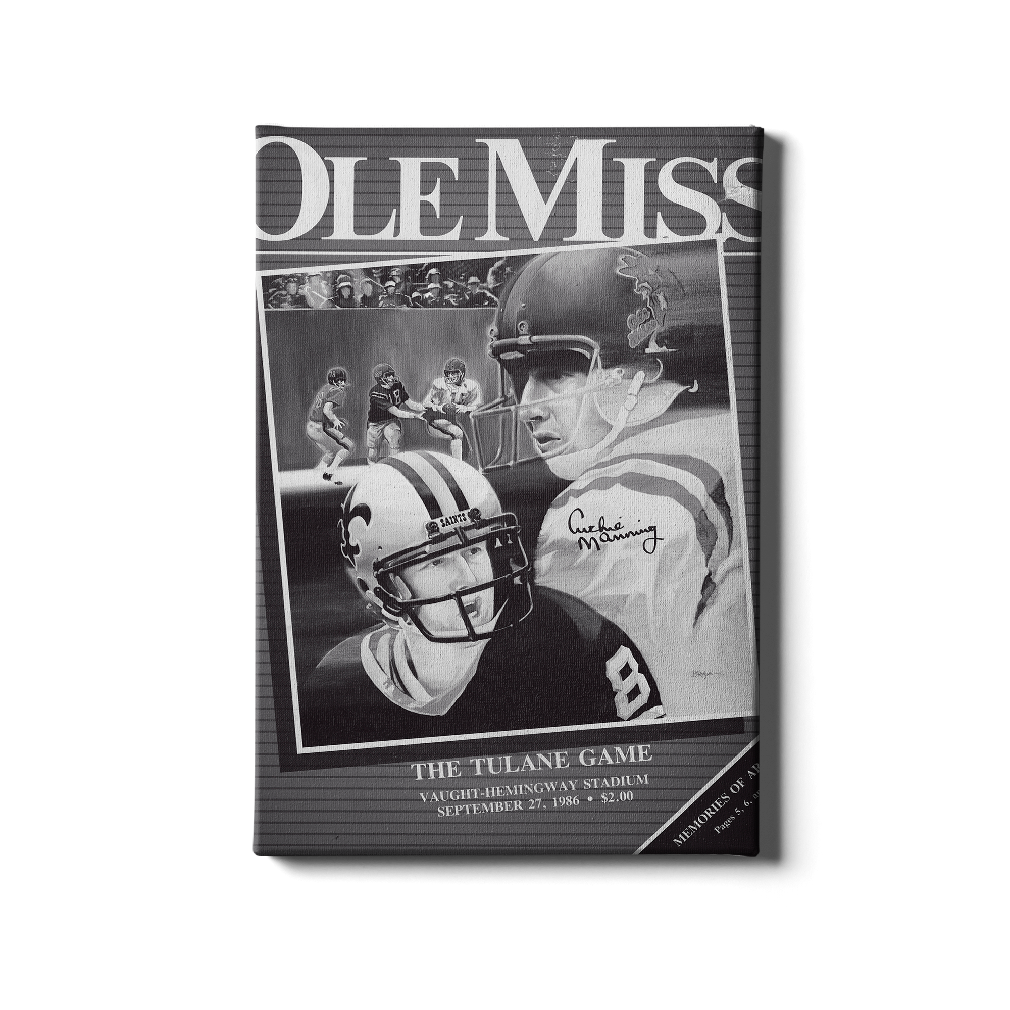 Ole Miss Rebels - Vintage Archie Manning Day - College Wall Art #Canvas