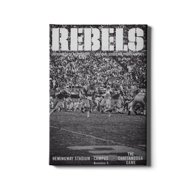 Ole Miss Rebels - Vintage Archie Manning - College Wall Art #Canvas