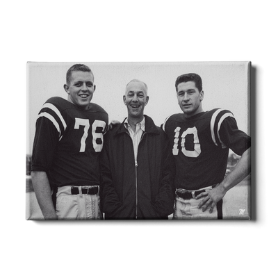 OLE MISS REBELS - Vintage Khayat Doc Knight_Bobby Ray Franklin - College Wall Art #Canvas