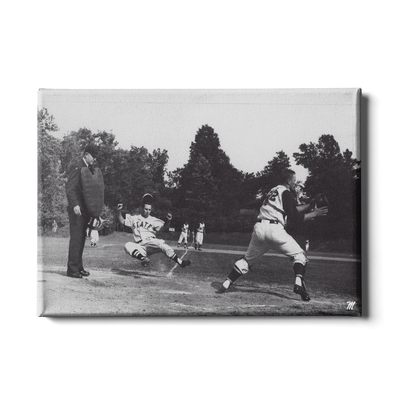 OLE MISS REBELS - Vintage Khayat Play at the Plate - College Wall Art #Canvas