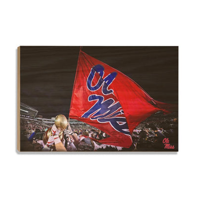 Ole Miss Rebels - Egg Bowl Victory - College Wall Art #Wood