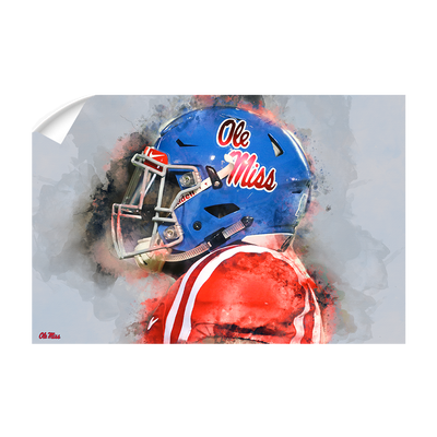 Ole Miss Rebels - Ole Miss Watercolor - College Wall Art #Wall Decal