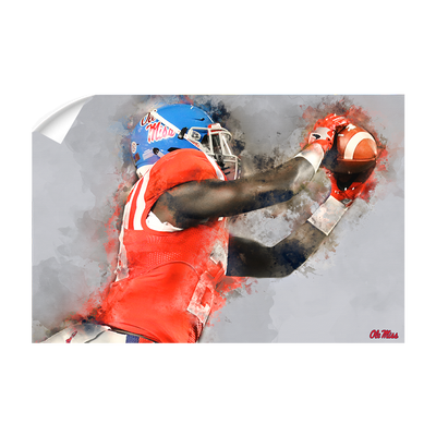 Ole Miss Rebels - Ole Miss Watercolor Catch - College Wall Art #Wall Decal