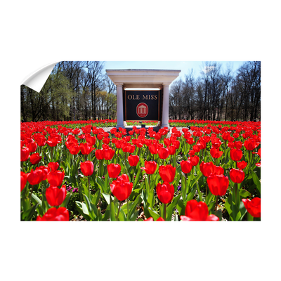 Ole Miss Rebels - Spring Flowers - College Wall Art #Wall Decal