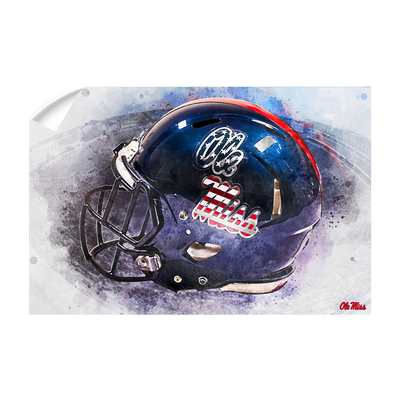 Ole Miss Rebels - Military Appreciation Day Helmet#Wall Decal