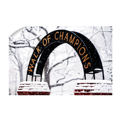 Ole Miss Rebels - Snowy Day Walk of Champions - College Wall Art #Wall Decal