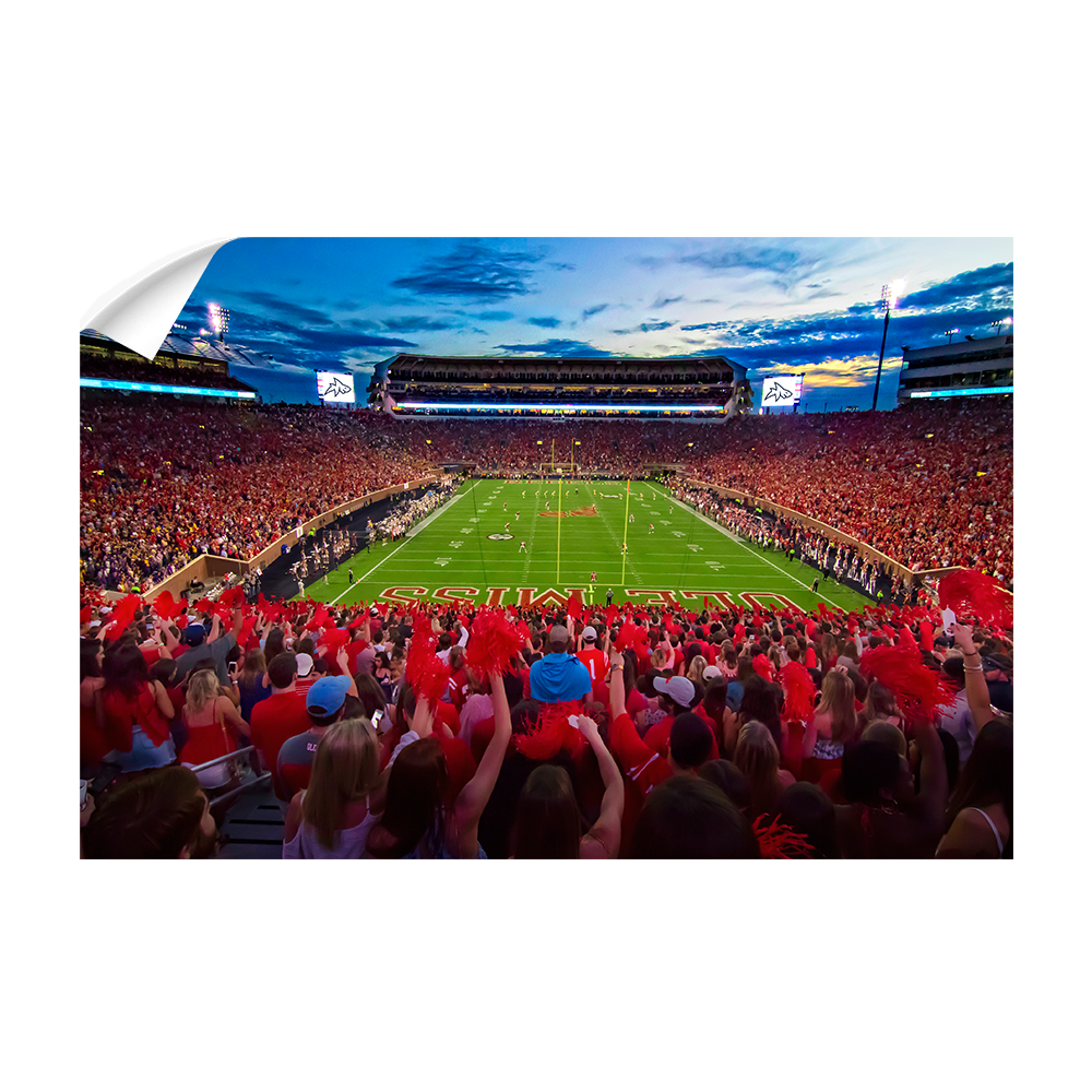 Ole Miss Rebels - Land Shark Sunset - College Wall Art #Canvas