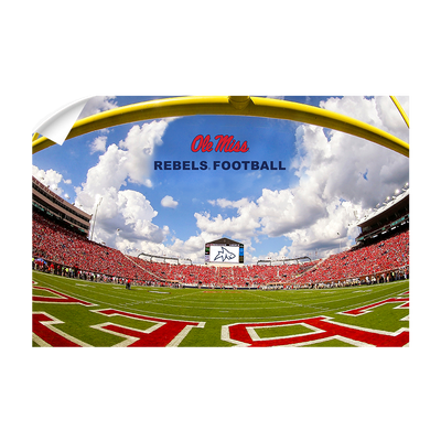Ole Miss Rebels - End Zone Rebel Football - College Wall Art #Wall Decal