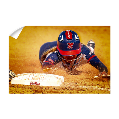 Ole Miss Rebels - Softball Safe - College Wall Art #Wall Decal