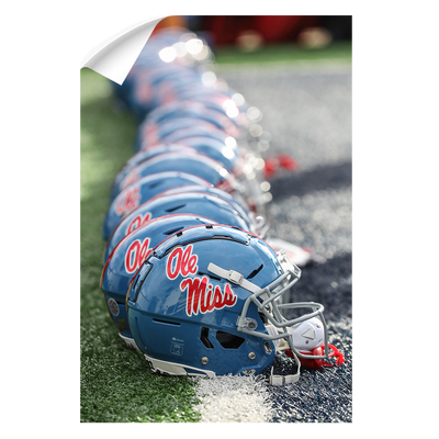 Ole Miss Rebels - Ole Miss Football Helmets - College Wall Art #Wall Decal