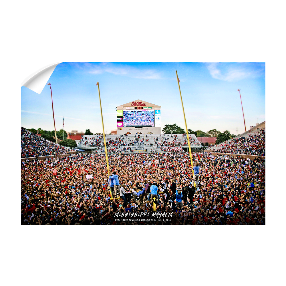 Ole Miss Rebels - Mississippi Mayhem The Win - College Wall Art #Canvas