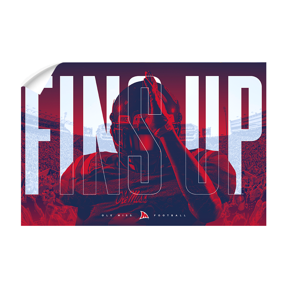 Ole Miss Rebels - Fins Up Ole Miss Football - College Wall Art #Canvas