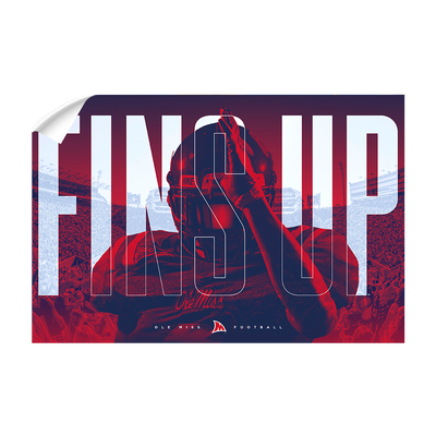 Ole Miss Rebels - Fins Up Ole Miss Football - College Wall Art #Wall Decal