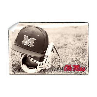Ole Miss Rebels - Ole Miss Vintage Baseball #Wall Decal