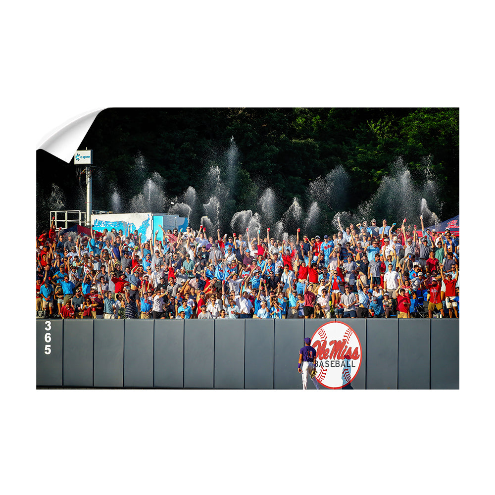 Ole Miss Rebels - Ole Miss Baseball Shower - College Wall Art #Canvas