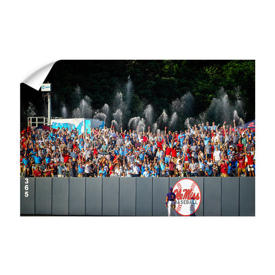 Ole Miss Rebels - Ole Miss Baseball Shower - College Wall Art #Wall Decal